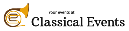 The Classical Events logo, in black-and-white